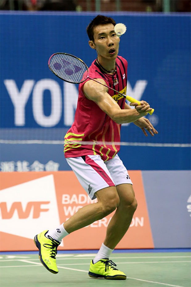 Lee Chong Wei has a tough task against Chen Long in the Chinese Taipei quarter-final. (photo: Getty)