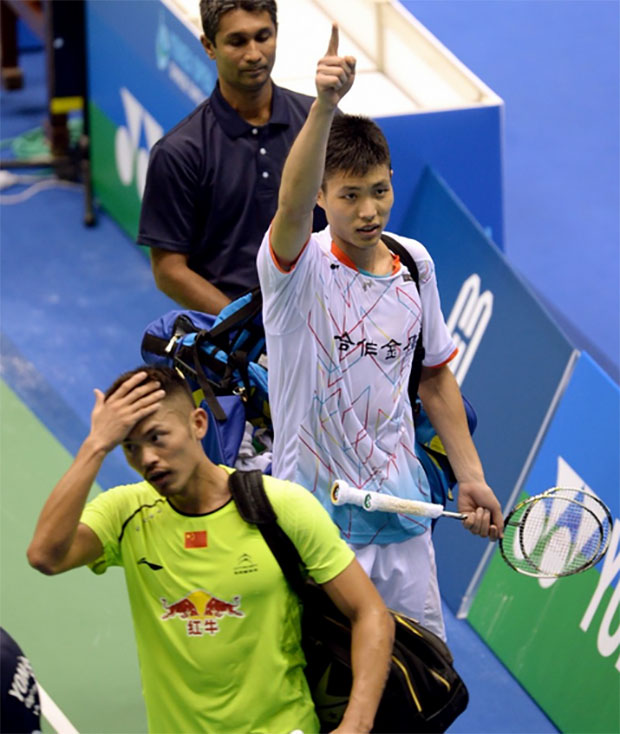 Chou Tien Chen becomes the first Taiwanese player to defeat Lin Dan. (photo: AP)