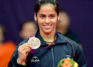 India's badminton sweetheart Saina Nehwal.