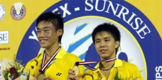 Mak Hee Chun (left) and Teo Kok Siang won the world junior championship title in 2008.