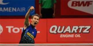 Keep it up for one more match, Chong Wei! (photo: Reuters)