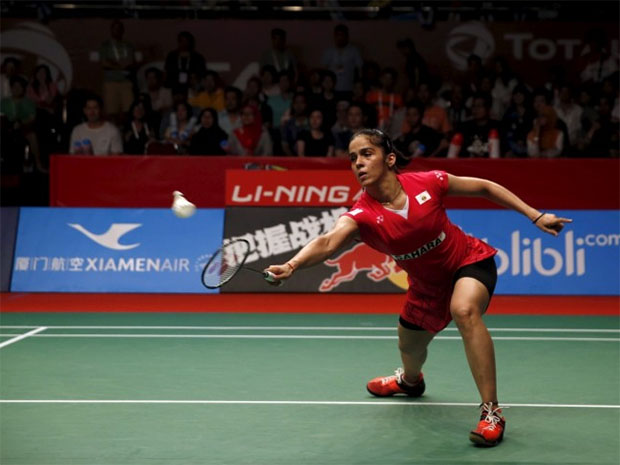 Saina Nehwal is the first Indian to enter World Badminton Championships final.(photo: Reuters)