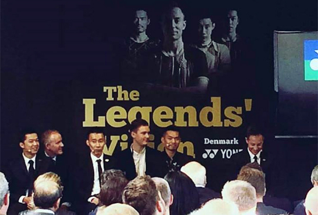 Taufik Hidayat, Lee Chong Wei, Lin Dan, Peter Gade at Legends' Vision in Copenhagen. (photo: Yonex)