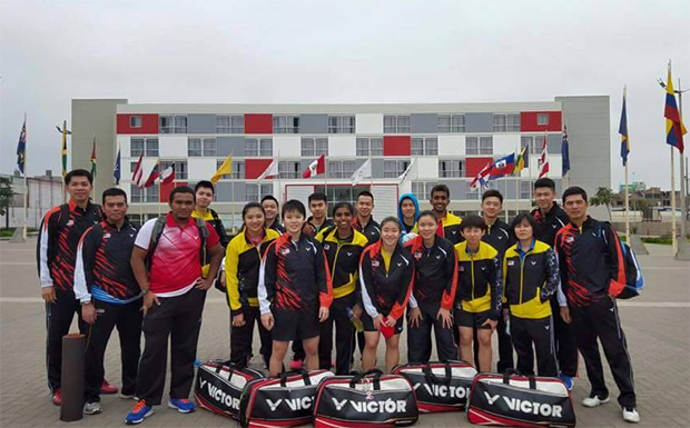 The Malaysian world junior team and coaches pose for photo. (photo: Facebook)