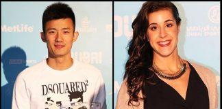 Chen Long and Carolina Marin deserve 2015 BWF players of the year award. (photo: BWF)