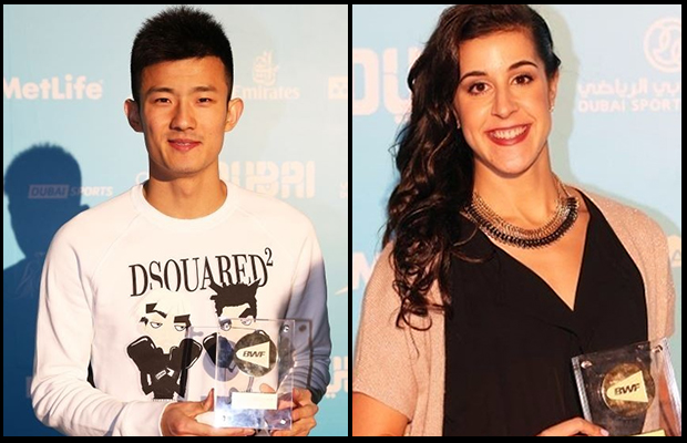 Chen Long and Carolina Marin deserve 2015 BWF players of the year award. (photo: BWF)