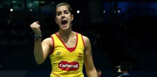 Carolina Marin is going strong at Dubai World Superseries Finals. (photo: GettyImages)