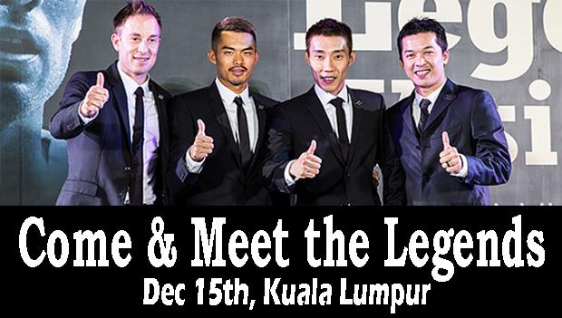 Can't wait to see Peter Gade, Lin Dan, Lee Chong Wei and Taufik Hidayat in Kuala Lumpur.(photo: Yonex)