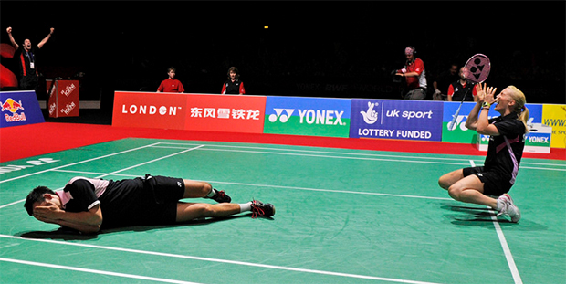Imogen Bankier and Chris Adcock defeated Tantowi Ahmad/Lilyana Natsir in the semi-finals of 2011 World Championships.