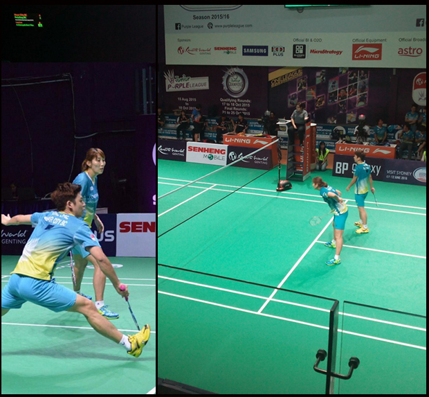 Nice to see Lee Yong-Dae & Lee Hyo-Jung play together again. (photo: Purple League)