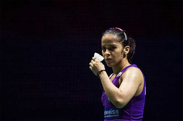 Saina Nehwal plays an important role in Awadhe Warriors' victory on Wednesday. (photo: AFP)