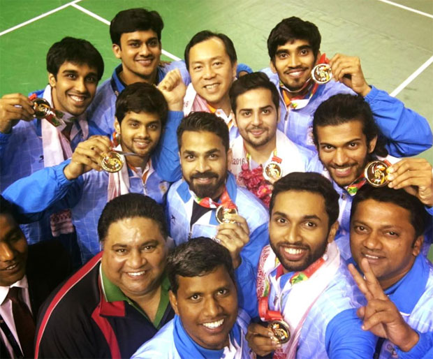 India clinched gold medal in men's team event at the South Asian Games. (photo: SAF)