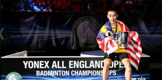 Lee Chong Wei beats Chen Long to win the 2014 All England title. (photo: GettyImages)