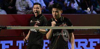 Koo Kien Keat/Tan Boon Heong will play a tough match against Lee Sheng Mu/Tsai Chia Hsin in the Swiss Open semis. (photo: AFP)