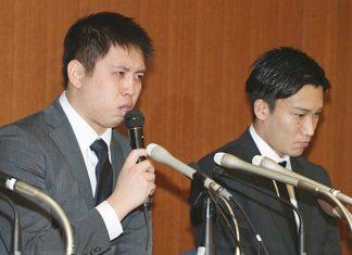Kento Momota and Kenichi Tago admit to gambling at an illegal casino. (photo: AFP)