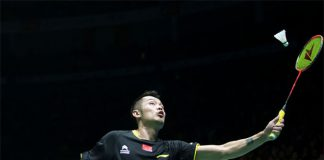Lin Dan is being serious about winning his third Olympic gold medal. (photo: GettyImages)