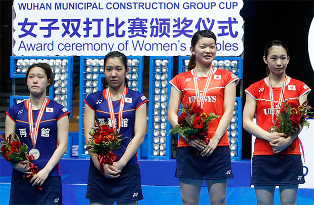 """A lot of respect to Ayaka Takahashi/Misaki Matsutomo and Naoko Fukuman/Kurumi Yonao's """"Samurai spirit"""" when both pairs put up real fight in the BAC final, contrary to """"Li Yongbo"""" style that brought shame to badminton with walkovers and match throwings."""