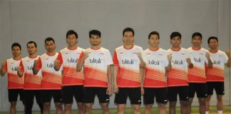 Shuttlers for the 2016 Indonesia Thomas Cup squad. (photo: Indrianto Eko Suwarso)