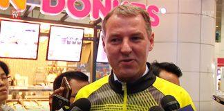 Morten Frost talks to reporters at Kuala Lumpur International Airport (KLIA).