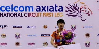 Goh Jin Wei wins the Celcom Axiata National Circuit First Leg title. (photo: BAM)