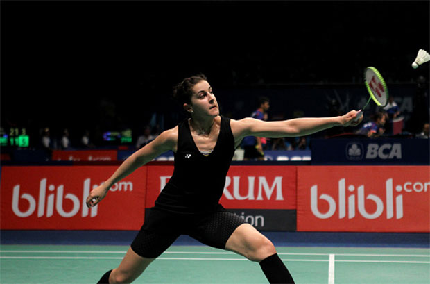 Carolina Marin is looking forward to the challenge of winning gold at the Rio 2016 Olympics. (photo: AFP)