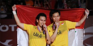 Mohammad Ahsan and Hendra Setiawan won the men's doubles title at 2015 Total BWF World Championship (photo: Getty Images)