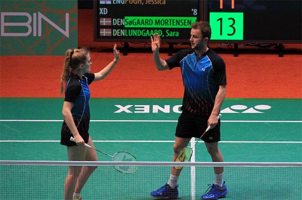 Ben Lane/Jessica Pugh are the World No. 72 mixed doubles pair. (photo: Badminton Europe)