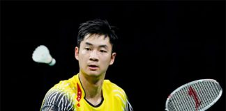 Wang Zhengming plays for China that has way too many good badminton players.