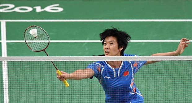 Tang Yuanting is actually taking a rest from badminton. (photo: AP)