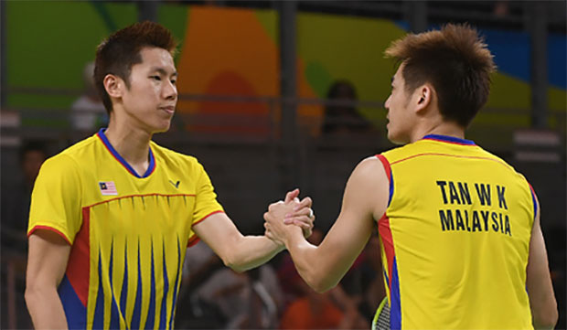 Goh V Shem/Tan Wee Kiong to play No. 2 seeds Chai Biao/Hong Wei on Friday. (photo: AFP)