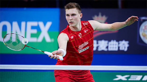 Viktor Axelsen suffers shock exit in the second round of 2016 Denmark Open. (photo: Lars Ronbog)