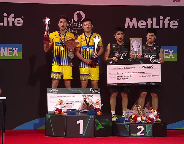 """Goh V Shem/Tan Wee Kiong play with strong """"mental toughness"""" to win the 2016 Denmark Open."""