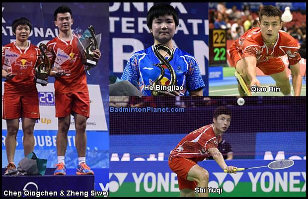 Chen Qingchen/Zheng Siwei, He Bingjiao, Shi Yuqi, Qiao Bin are set to make an impact in the world of badminton.