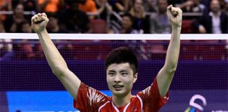 Shi Yuqi is bidding for the Bitburger Open title after his French Open victory. (photo: AFP)