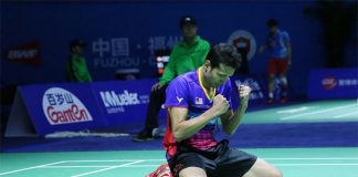 Iskandar Zainuddin celebrates after his quarter-finals victory at the 2016 China Open. (photo: AP)