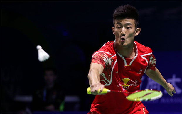 Chen Long is set to play Jan Jorgensen in the 2016 China Open finals. (photo: AP)