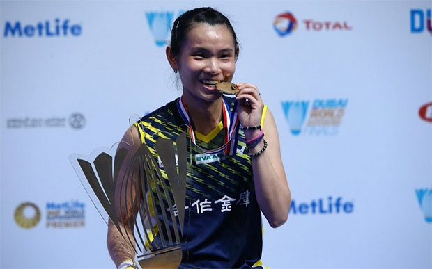 Congratulations to Tai Tzu Ying for winning the 2016 BWF World Superseries title. (photo: AFP)