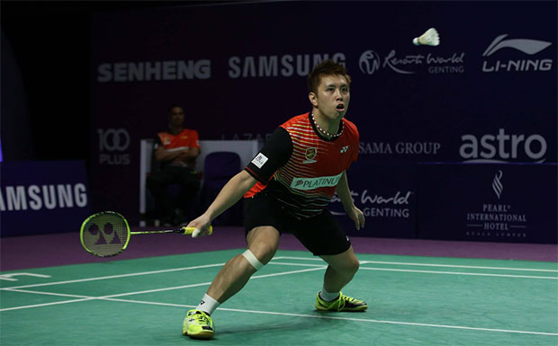 Nice to see Kenichi Tago to play badminton again! (photo: Purple League)