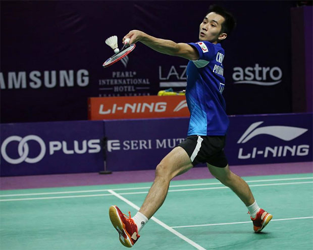 Chong Wei Feng scores the only victory for Puchong United BC on Friday. (photo: Purple League)