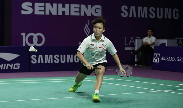 Goh Jin Wei is a young badminton star on the rise. (photo: Purple League)