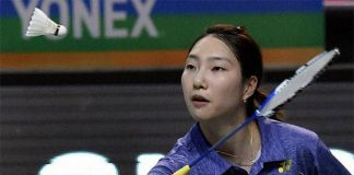 Sung Ji Hyun wins a jaw-dropping match against Carolina Marin in 2017 Premier Badminton League. (photo: PBL)