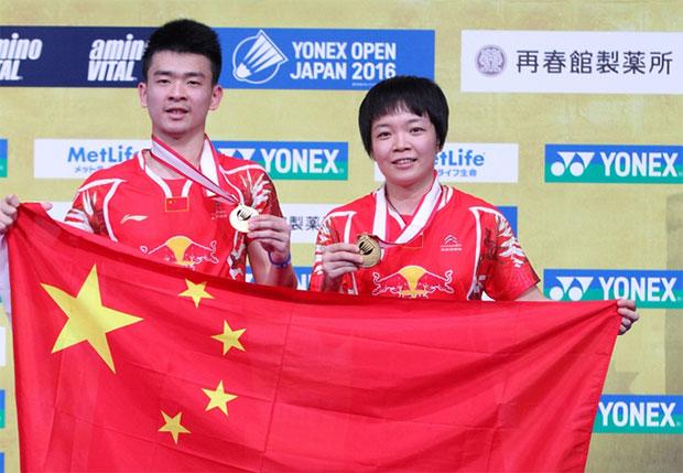 Zheng Siwei/Chen Qingchen are World No. 1 in mixed doubles. (photo: AP)