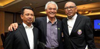 BAM's deputy president Mohamad Norza (left), current president Tan Sri Tengku Mahaleel Tengku Ariff (middle), acting president Tan Sri Mohd Al Amin Abdul Majid. (photo: The Star)