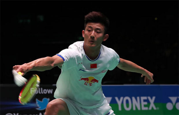After last's week's German Open semi-finals defeat, Chen Long makes another early exit at All England. (photo: AFP)