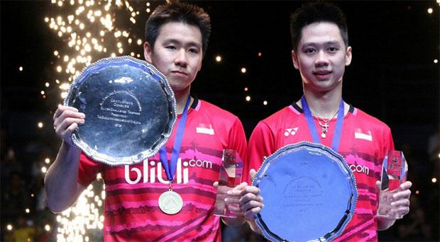 Kevin Sanjaya Sukamuljo and Marcus Fernaldi Gideon are the new World No. 1 men's pair. (photo: PBSI)