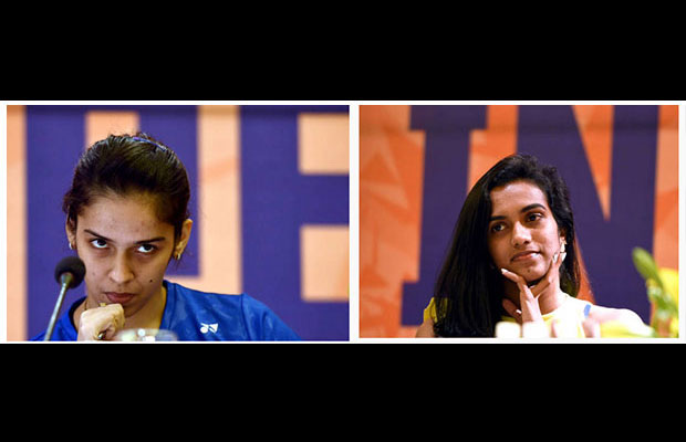 Saina Nehwal and P.V Sindhu face each other in the India Open quarter-finals. (photo: AFP)