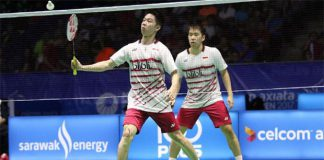 Kevin Sanjaya Sukamuljo/Marcus Fernaldi Gideon in brilliant form ahead of Malaysia Open final. (photo: AP)