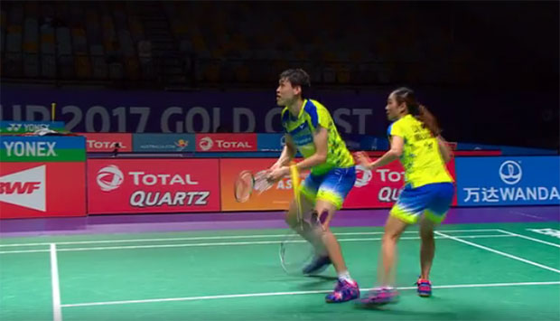 What an amazing racquet exchange from Tan Kian Meng/Lai Pei Jing!
