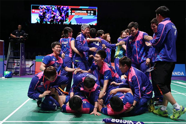 Congratulations to Korea for winning the 2017 Sudirman Cup.