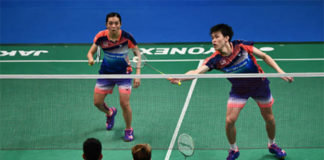 Tan Kian Meng/Lai Pei Jing are rising stars in mixed doubles. (photo: AP)